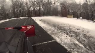 Ford F550 Snow Plowing