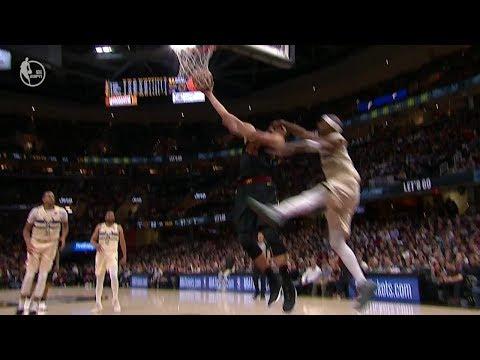 Jason Terry's Hard Foul on Ante Zizic | Bucks vs Cavaliers | March 19, 2018 | 2017-18 NBA Season