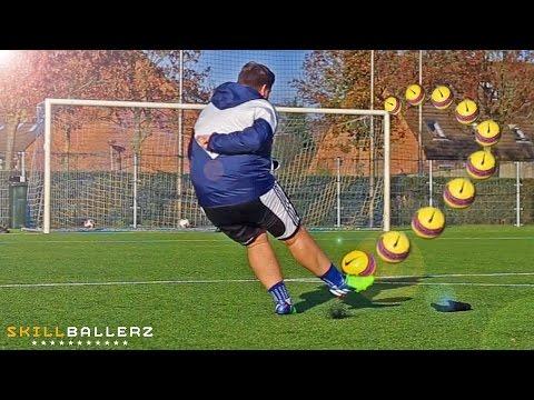 How To Shoot like Ronaldinho - Curve Free Kick Tutorial