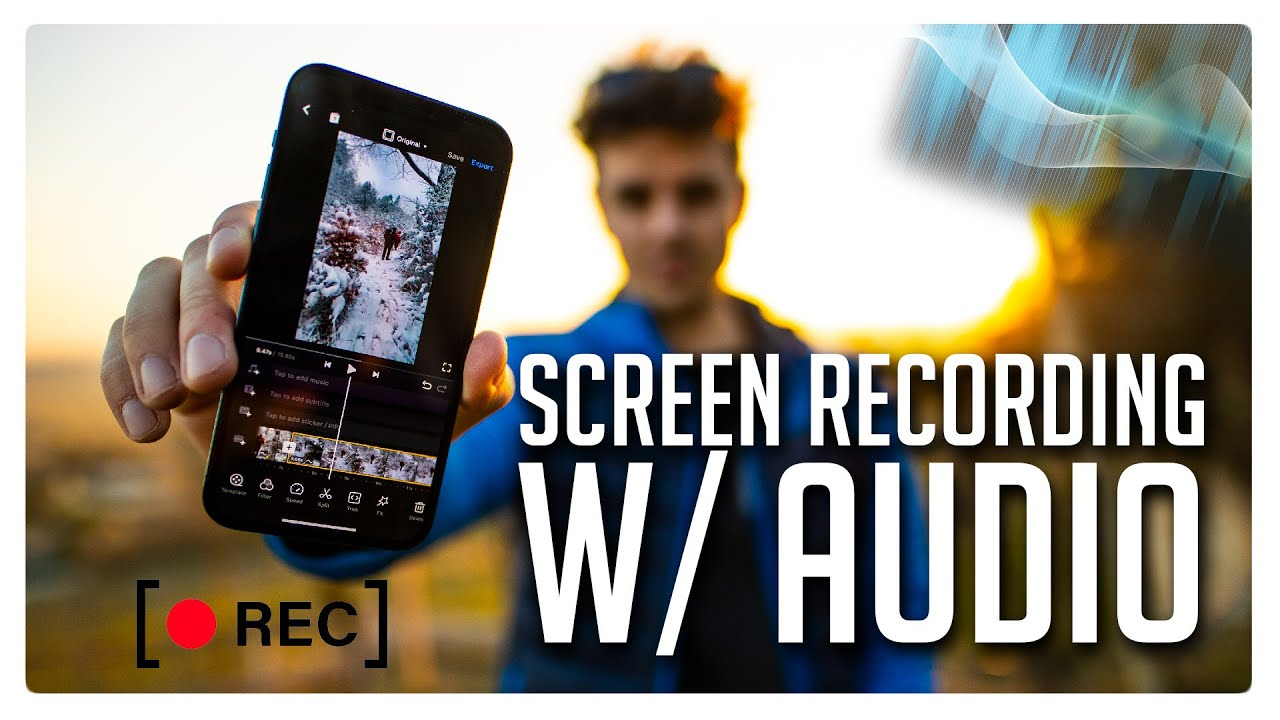 How to Screen Rec WITH AUDIO on iPhone/ iOS Devices - 2021