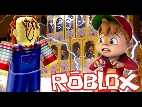 CHIPMUNK vs CHUCKY ON THE HORROR ELEVATOR |  ROBLOX
