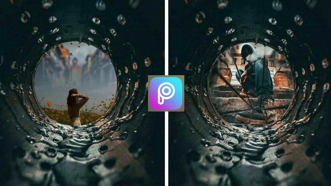 Picsart| Cách ghép ảnh vào ống nước theo trend Facebook trong 60s cực dễ