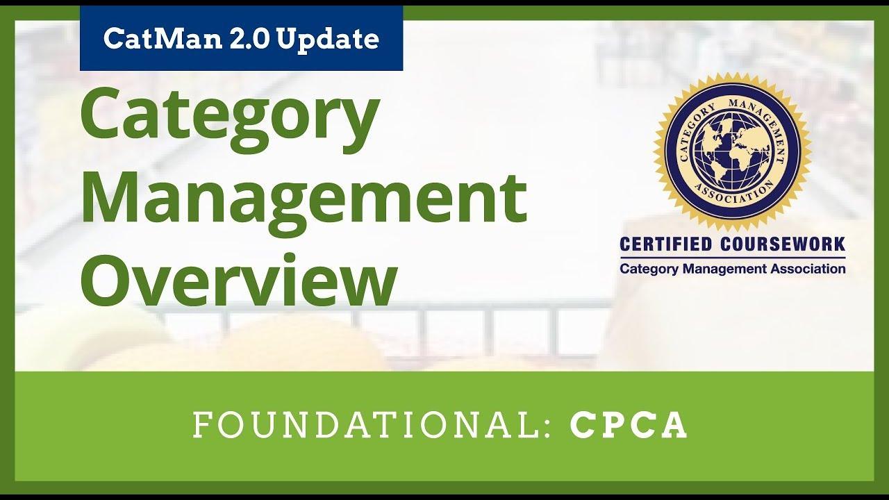 Category Management Overview Course Preview Youtube
