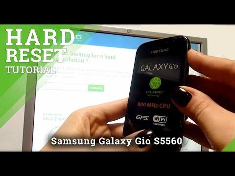 Hard Reset Samsung Galaxy Gio S5560