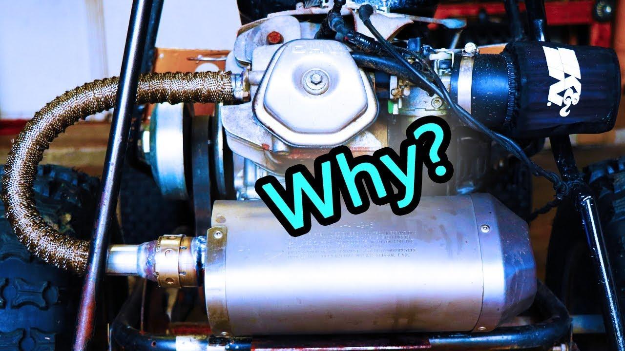 Yamaha R1 Muffler + Header Wrap + Go Kart = ?