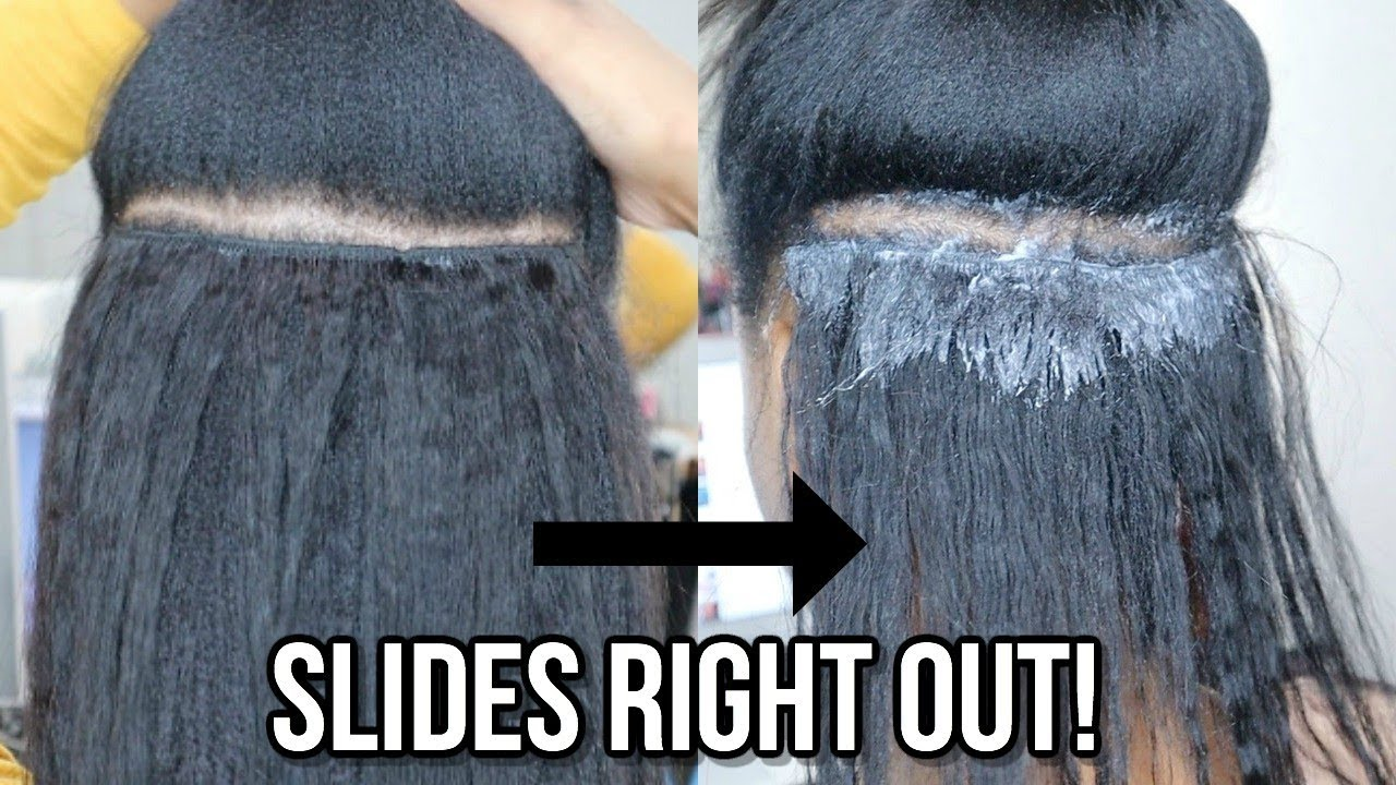 how to remove glued weave