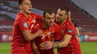 Gol Pandeva Koji je Odveo Makedonce na EURO   SPORT KLUB FUDBAL