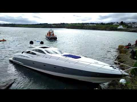 Moelfre Anglesey Life Boat Rescue Yacht 23/09/2017