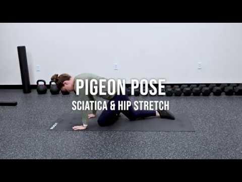 pigeon pose sciatica pain/hip opener  youtube