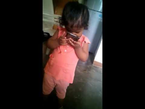 cute baby dance mata ka email song