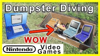 Found Nintendo Video Game consoles Dumpster Diving #180
