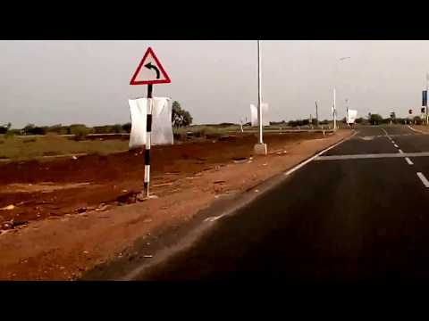 First Developed Road in New Capital City of Amaravati as on 15.04.2017-Andhra Pradesh-India