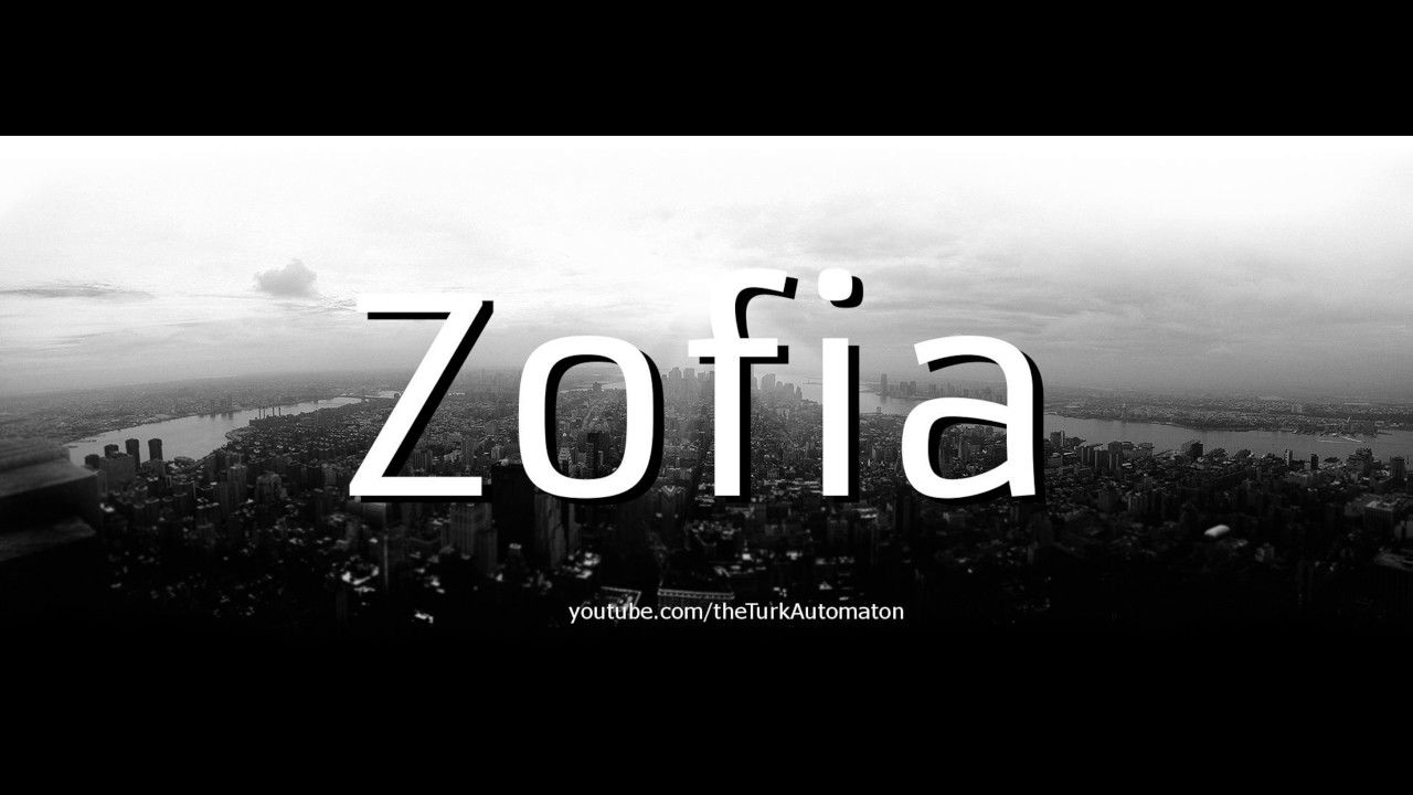 How To Pronounce Zofia In German Youtube