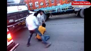 Road rage truck driver  live dangerous fights caught on camera