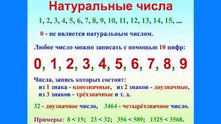 1.Натуральные числа. Разряды и классы. Сравнение натуральных чисел
