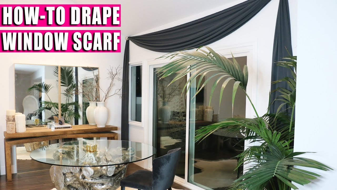 Draping Curtains How To Drape Window Scarf