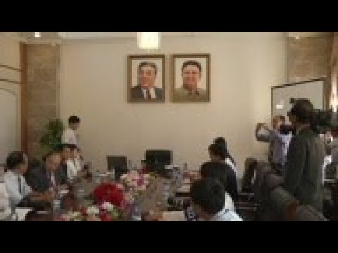 Detained student presented to media in Pyongyang