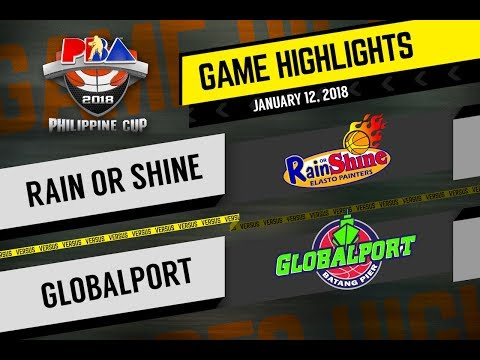 PBA 2018 Philippine Cup Highlights: ROS vs. Globalport Jan. 12, 2018