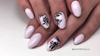 Вензеля на ногтях + инкрустация стразами 💅🏼 Подробный урок