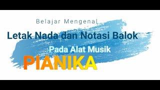 Belajar mengenal letak nada dan notasi balok dalam alat musik Pianika   by TDTV Channel