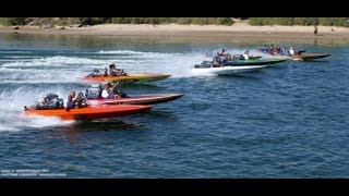 Blown K boats Cruising the River