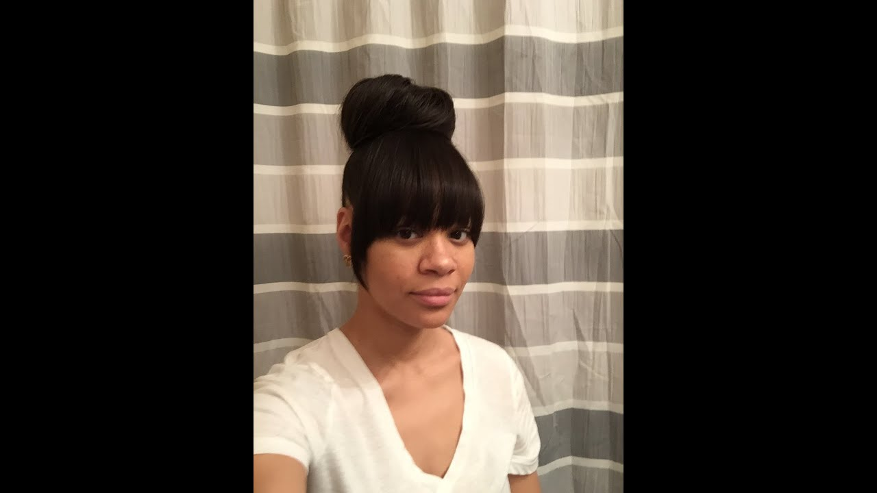 Faux Bangs With Bun Youtube