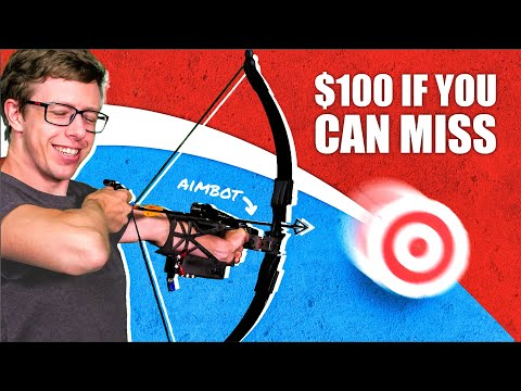 Auto-aiming bow vs. FLYING targets