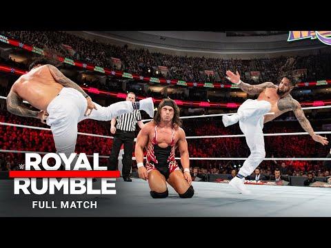 FULL MATCH - Usos vs Gable & Benjamin SmackDown Tag Titles 2-out-of-3 Falls Match: Royal Rumble 2018