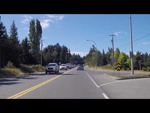 Driving to Qualicum Beach BC Canada - Vancouver Island Tour - Retirement Community