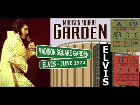 elvis presley at madison square garden new york city 1972