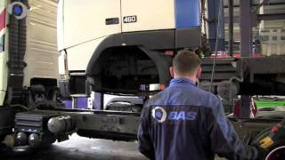 Loading a truck on another truck @ BAS Trucks