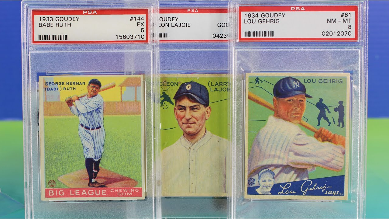 Huge Baseball Card Collection Babe Ruth Goudey Lou Gehrig Psa Rookie Footbal Bart Starr