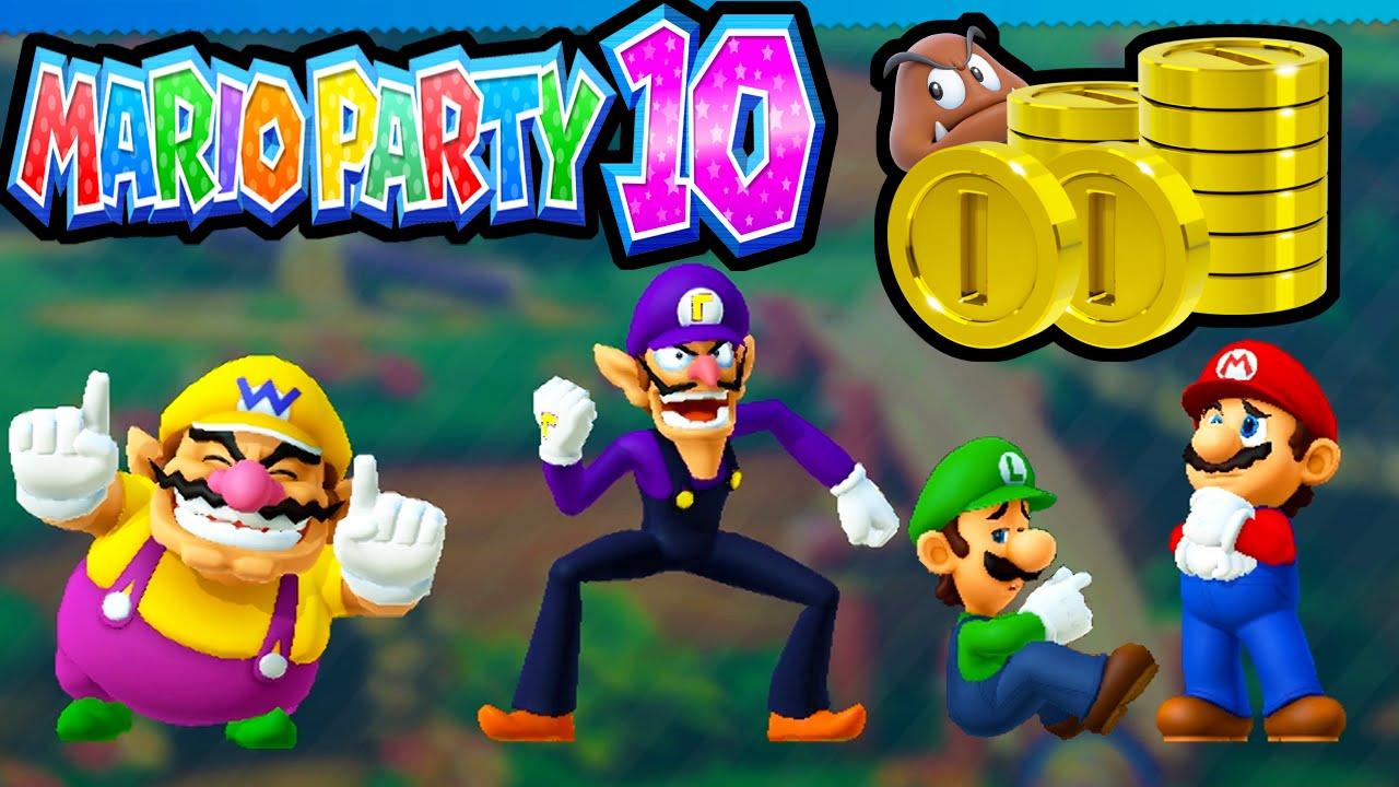 Mario Party 10 Wii U Coin Challenge 2 Player Wario Vs