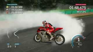 RIDE Gameplay: MV Agusta F3 675... BURNOUT and DONUTS!