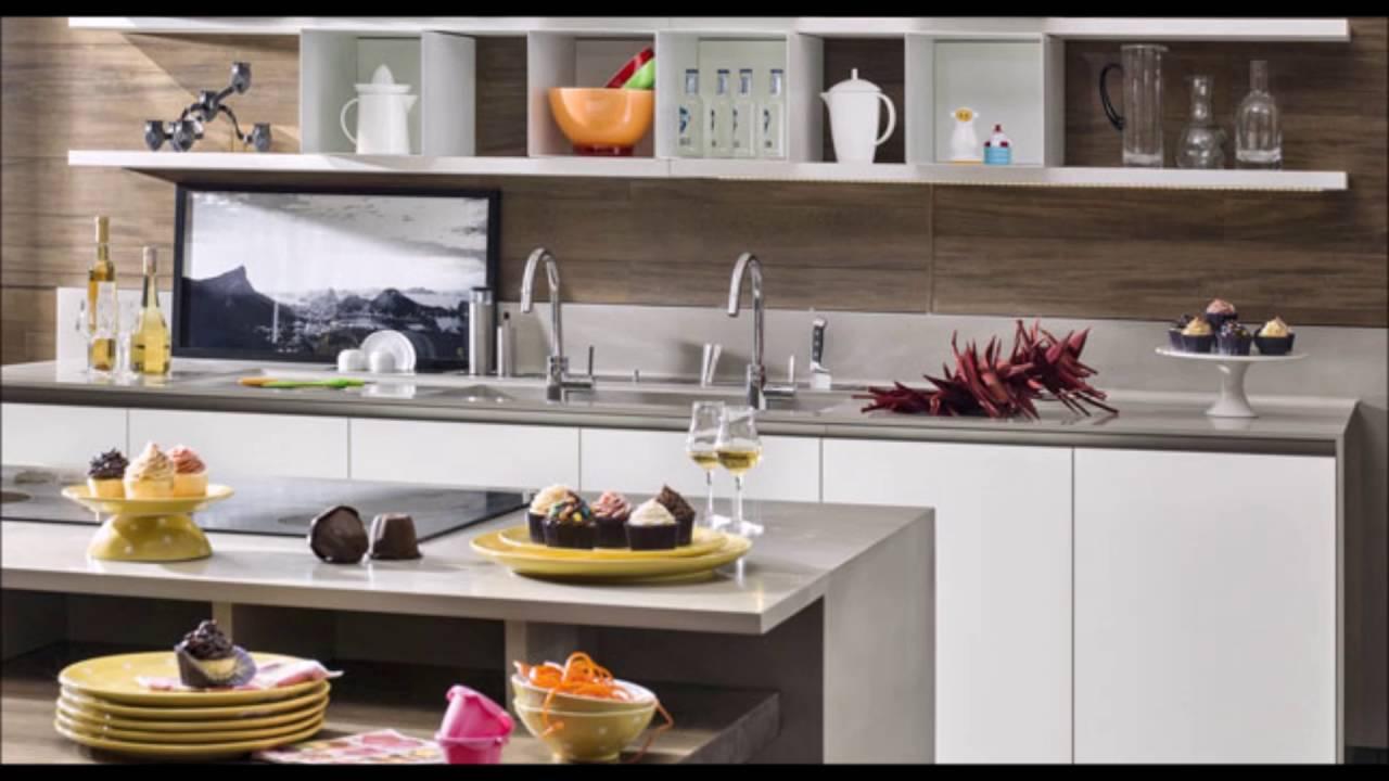decoraç u00e3o de cozinha pequena simples e barata YouTube -> Decoração Cozinha Pequena Barata