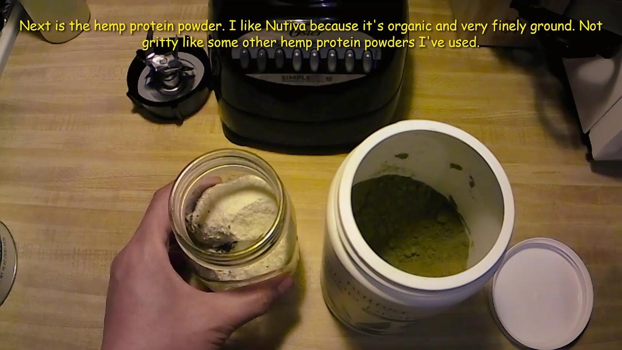 You Can Blend in a Mason Jar - Healthy Banana Hemp Protein Shake