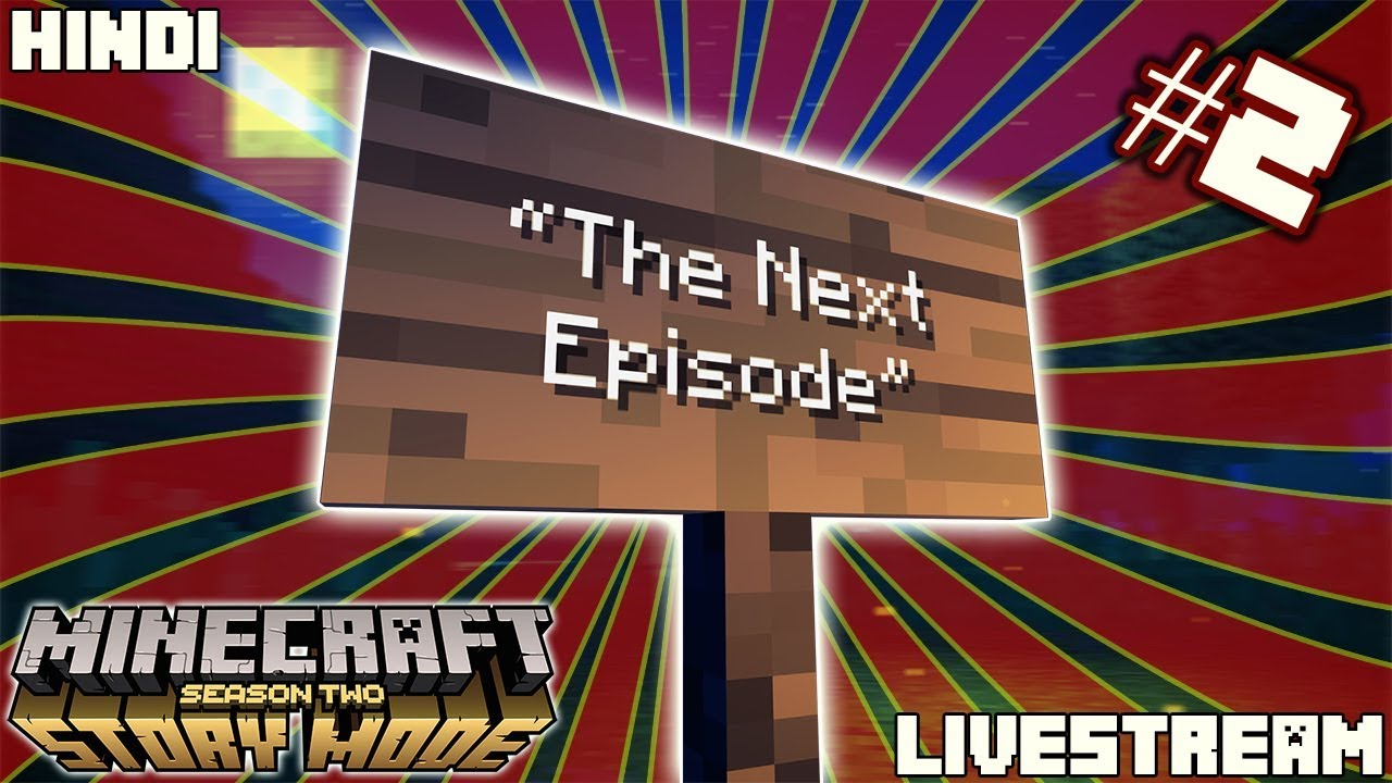 🤔 Another new world? || Minecraft Storymode S2/E2 || - 🔴Hindi India Live Stream🔴Join ₹29/-