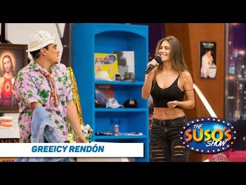 Greeicy le ense帽a a bailar a Suso - Greeicy Rend贸n en The Suso's Show