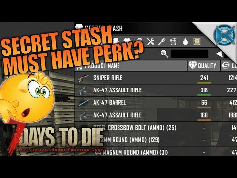 Secret Stash Must Have Perk? | 7 Days to Die | Let's Play Gameplay Alpha 16 | S16E27