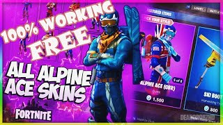 HOW TO GET ALPINE ACE KOREAN SKIN FOR FREE - Fortnite