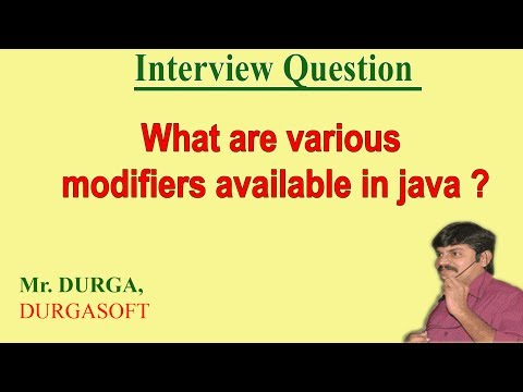 What Are The Various Modifiers Available In Java ?