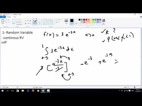 4- Continuous random variable & Probability density function