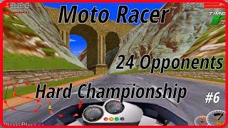 Moto Racer (1997) ✓ Gameplay Walkthrough ✓ Hard Championship ✓  24 opponents