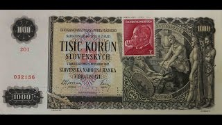 Slovakia Old Banknote банкно́та ورقة نقدية 纸币 pengeseddel billet χαρτονόμισμα bancnota 紙幣