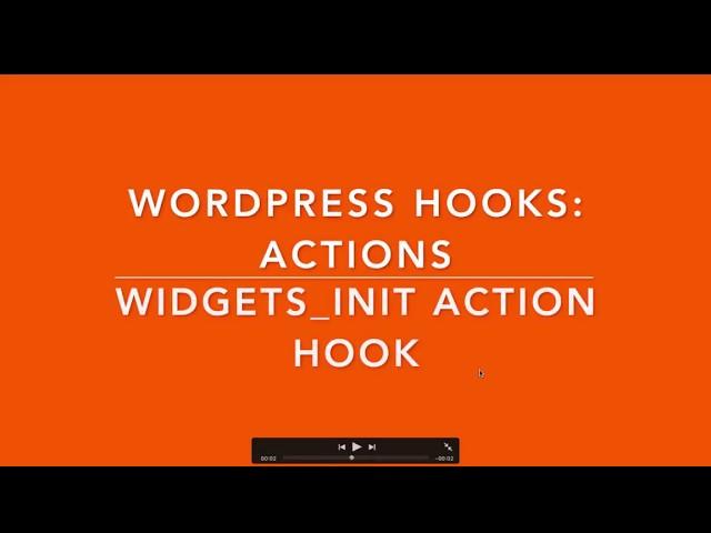 WordPress Hooks Actions - widgets_init Part - 5 Example
