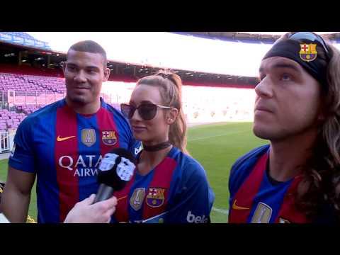WWE stars Jason Jordan, Chad Gable, Carmella visits Camp Nou