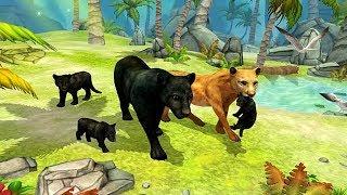 Cимулятор Семьи Пантеры #1 Родился котенок у пантеры развлекательное видео для детей