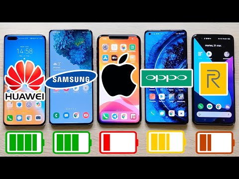 Huawei P40 Pro vs Galaxy S20 Ultra, iPhone 11 Pro Max y Oppo Find X2 Pro. TEST DE BATERIA EXTREMO!!