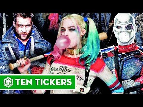 Top 11 nhân vật quái dị nhất trong phim Suicide Squad (Biệt đội cảm tử)| Ten Tickers No.63