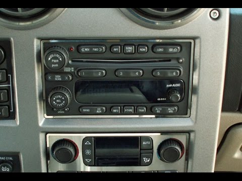 How to Remove Radio / CD / Navigation Player from Hmmer H2 2004 for Repair.